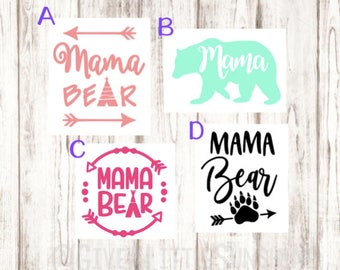 Mama Bear Car Decal - Mom Decal - New Mom Gift - Baby Shower Gift