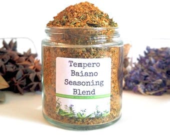 Tempero Baiano Seasoning Blend Latin American Brazilian Fish Seafood Spice Mix Foodie Chef Cooking Gift SALT FREE