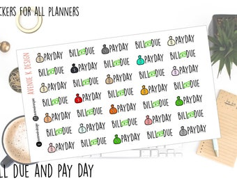 Bill Due and Pay Day Stickers