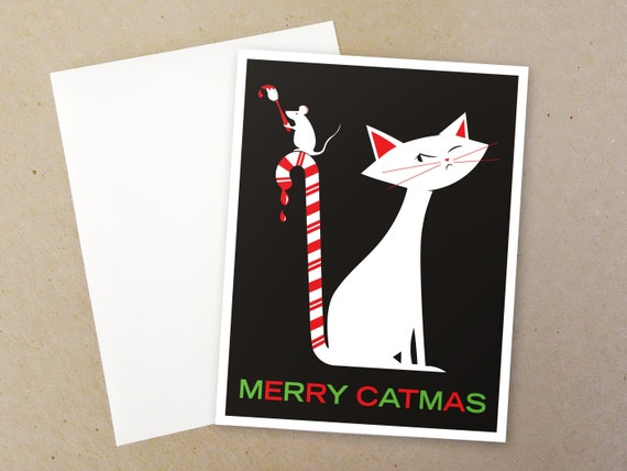 Merry Catmas Christmas Card