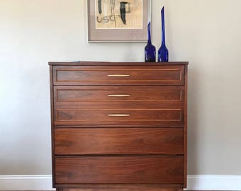 AVAILABLE - Restored Mid Century Modern Dixie Highboy Dresser