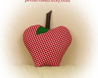 Apple Shaped Pillow, Apple Pillow,Green Apple,Red Apple, Toy Pillow, 3D Pillow,  Beach House Decor