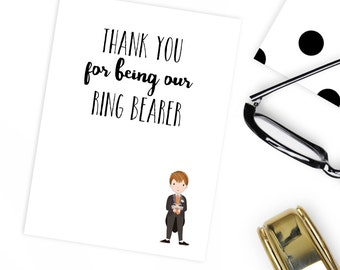 Thank you for being our page boy or ring bearer card