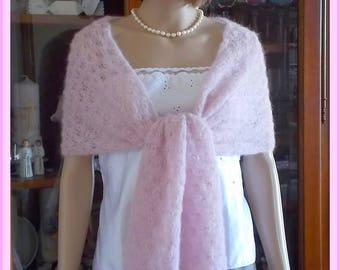 Scarf shawl shoulder warmer cream Mohair