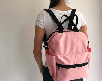 SALE 15% Navy Nylon Backpack Diaper Bag Water resistant Backpack,backpacks ,Laptop bag, diaper bag, School bag, Gift for her, Baby Shower