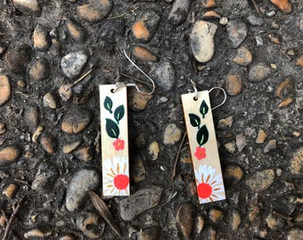 Emma Woodhouse Hand Painted Earrings