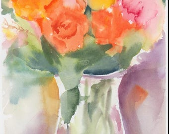 Watercolor Roses
