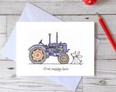 Tractor birthday card, happy birthday vintage tractor card for dad, grandad, son, husband, boyfriend, grandson, card for him