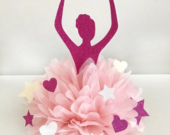 Ballerina Party Decoration, Ballerina Party Decor, Ballerina Centerpiece, Ballerina Cake Topper, Ballerina Centerpiece For Baby Shower
