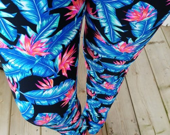 Yoga pant - tropical - legging - spandex - for WOMEN