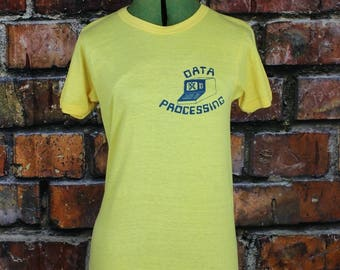 Data Processing Vintage 1970s T-Shirt