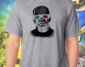 Frankenstein Monster / 3D Glasses / Men's Gray Performance T-Shirt