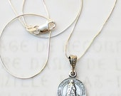 Necklace - Sainte Sarah & Saintes Maries 14mm - Sterling Silver + 18 inch Sterling Silver Chain