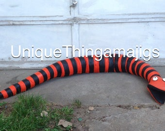 Nightmare Before Christmas Inspired Snake, Ready Made Item, Ready To Ship