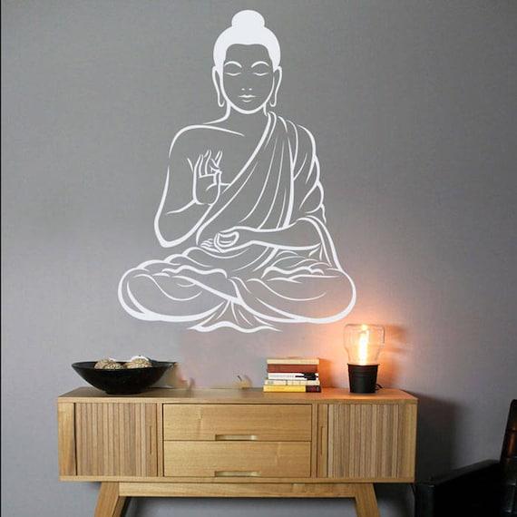 Buddha Wall Art Buddha Wall Decor Om Wall Art Decal Yoga Wall Art Decal Indian