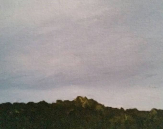 Storm In The Ozarks - Oil Painting - Minimalist