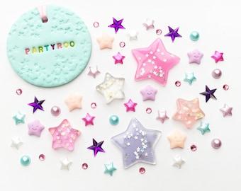 Star Flatbacks Flat Back | Embellishment Set | Wish Upon A Star | Flatback Flat Backs | Ribbon Gift Present | Embellishments