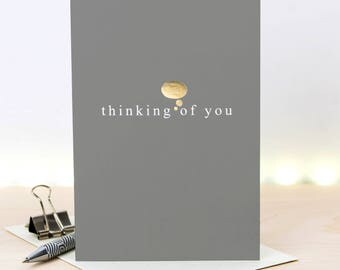 Thinking Of You Card; Sympathy Card; Gold Foil Card; GC651