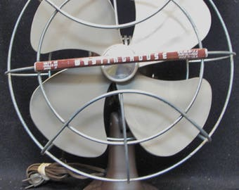 Vintage 1950's Westinghouse Electric Fan Art Deco 10LA4