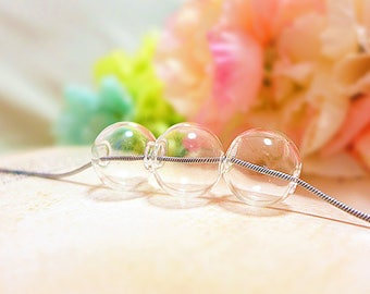 Glass Bubble Necklace, Glass Bubble Jewelry, Clear Bubble Necklace, Bubble Statement Necklace, Transparent Necklace, Glass Orb Necklace