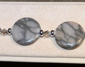 A Touch of Grey Marble Bracelet