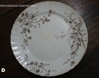Brown Transferware Plate D