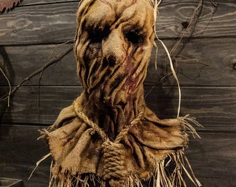 """Scarecrow mask, """"voodoo"""" Halloween mask,"""