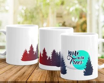 coffee mug, ceramic mug, camping mug, cabin decor, BC, yosemite, hiker gift idea, national park, adventure explorer, Jasper National Park,