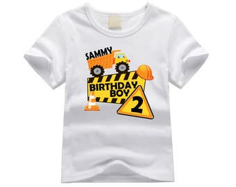 Construction theme birthday shirt. First birthday shirt. 1st birthday shirt. Birthday boy shirt. Dump truck shirt. Personalized birthday tee