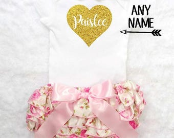 baby girl outfit baby girl clothes personalized baby girl outfit personalized baby girl clothes baby name outfit pink and gold baby girl