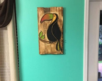Tropical Toucan Wall Art