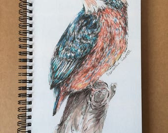 A5 Kingfisher Lined Notebook
