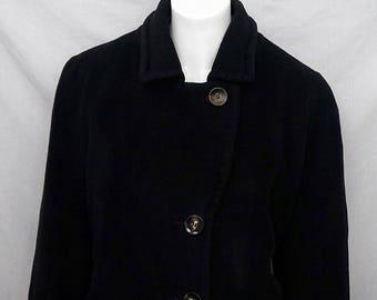 Schneiders Salzburg Tanja Maison du Loden Virgin Wool Angora Coat Black sz 14