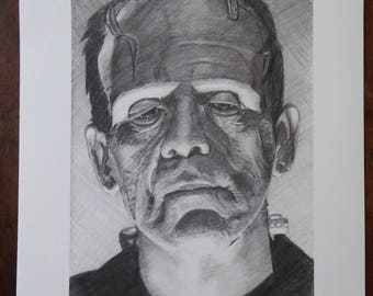 Frankenstein's Monster Limited Edition Fine Art Print