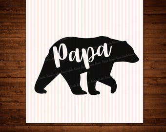 Papa bear Svg ,Studio ,Png,JPG ,DXF cutting file Cricut silhouette cameo cut file - Instant Download