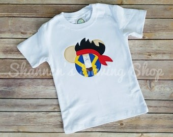 Mouse Ears Jake the Pirate Shirt, Pirate Mouse Ears, Pirate Mickey Shirt