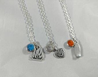 Stranger Things Season 2 Inspired Mini Jewel & Charm Necklaces - Max, Billy, Bob