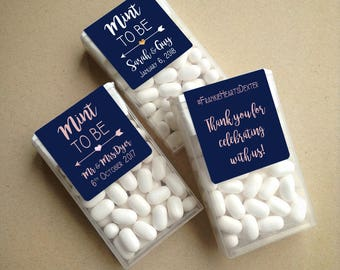 Navy Wraparound Mint to Be Tic Tac Favor LABELS • Tic Tac Labels • Favor Label • Mint To Be • Shower • Mint to Be Favor • Labels • Mints
