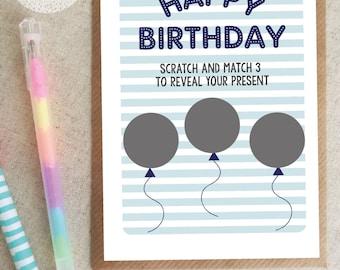 Birthday Card, Husband, Boyfriend,  Scratch Card, Rude, Funny, Humour, Personalised
