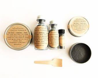 Tooth Polish Powder: Organic Herbal Whitening Healing Tooth Powder • Ayurvedic Teeth Remineralizer with Kelp, Neem, Sage & Horsetail
