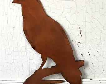 Black Birds, Bird Sign, Raven, Farmhouse Decor, Rustic Signs, Rustic Metal Signs, Rustic Decor, Farmhouse Signs, Garden Signs, Metal Signs