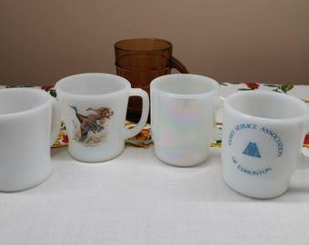 Fire King Mugs Set, Assorted Shapes