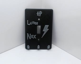 Harry Potter Lumos Nox Light Switch  Lightswitch Plate Switchplate Cover and Key Rack Hanger