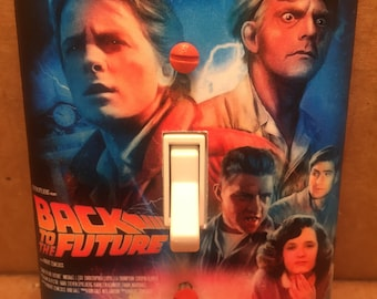 Back to the Future Light Switch Cover - Handmade - Sci-Fi - Marty McFly - Doc Brown
