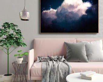 Abstract Art, Large Abstract Print , Giclee Print , Canvas print , Modern Art , Fine Art Print , Cloud Painting , Wall Decor, Wall Art