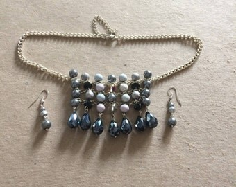 Shades Necklace and Earrings Set