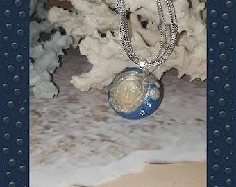 Mermaid Moon Celestial Goddess Glow in dark Necklace