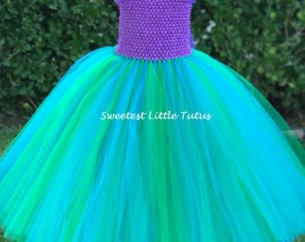 Mermaid Tutu Dress/ Ariel Tutu Dress/ Mermaid Tutu/ Mermaid Birthday Dress/ Mermaid Costume/ Ariel Tutu/ Ariel Birthday/ Ariel Costume