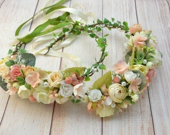 Photo props Flower crown Maternity photo Floral crown Boho wedding crown Bridal crown Flower headpiece Floral hair piece Boho flower crown