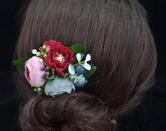 Flower hair comb Wedding hair accessories Wedding headpiece Wedding hair flower Bridal hair comb Girl hair comb Women hair comb Flower girl